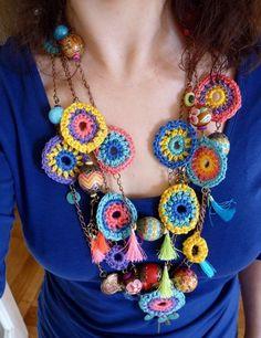 Au bonheur des mains: Crochet Bohème #1... le collier