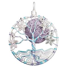 Spring Tree of Life Pendant. I like the color patterning in the roots.