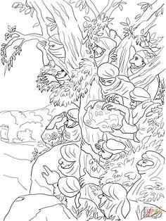 Jericó, ciudad de las palmeras Dibujo para colorear