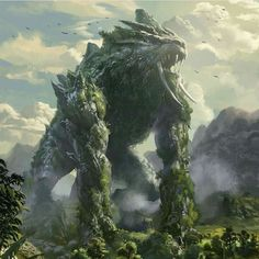 Earth monster by mingrutu  / http://mingrutu.deviantart.com/art/Earth-monster-469193590