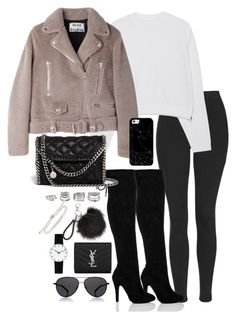 """""""Untitled #4874"""" by theeuropeancloset ❤ liked on Polyvore featuring Topshop, Acne Studios, SpyLoveBuy, Forever 21, Monica Vinader, Yves Saint Laurent, Casetify, STELLA McCARTNEY, Rosendahl and The Row"""