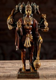 Lord Hanuman Mantra, Hymn, Quote, Sloka Shri Ganesh Images, Lotus Sculpture, Brass Statues, Demon King, Lord Vishnu, Hanuman, Horse Head, Sculptures, Arms
