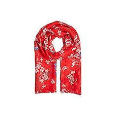 F&F Ditsy Floral Scarf Red One Size
