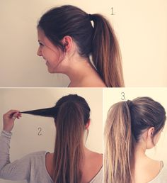 Summer Hairstyles messy ponytail