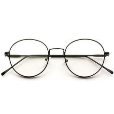 7dd6b8db111 Atlas Full Metal Frame Lennon Clear Lens Circle Glasses