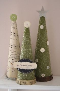 Christmas trees by TriciaH.   Papercone trees