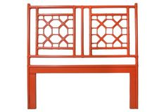 Orange Bernadette Headboard, Queen