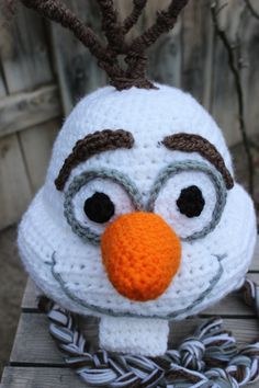 Frozen Frosty ~ Disney Inspired Movie Character ~ Beanie with Ear Flaps and Braids! on Etsy, $25.00