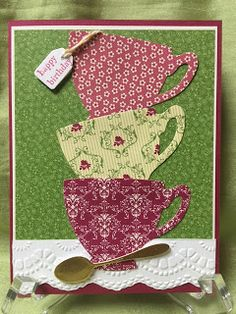 Stamp with Anna: Stampin Up, Cups and Kettles, birthday, tea, coffee