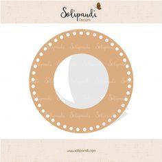 Circle monogram frame  dots  SVG Cut Files   by SolipandiDesigns