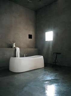 The Pear bathtub in White Cristalplant. Agape Bathrooms from Liquid Design +44 (0)1604 721993