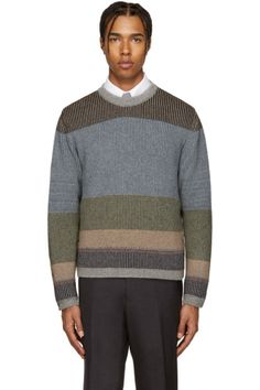 Thom Browne - Multicolor Camel Striped Sweater