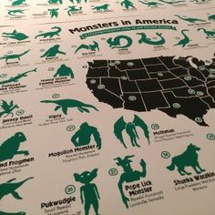 Philadelphia Artist Releases First Cryptozoological Map of the United States