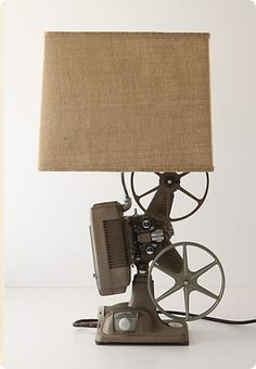Vintage Projector Lamp....love this and I think we have one in the family.....and the mission begins