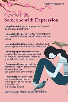 """""""Learn how to help and support someone with depression. Get important steps to provide help for depression."""" www.HealthyPlace.com"""