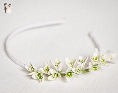 Snowdrop bridal flower crown - Bridal hair accessories (*Amazon Partner-Link)