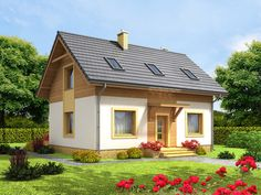 DOM.PL™ - Projekt domu ARN CYNAMON CE - DOM RS1-29 - gotowy koszt budowy Gazebo, Pergola, Dome House, Wooden House, Cottage Homes, Simple House, Traditional House, House Colors, Outdoor Living