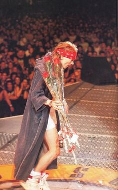Axl Rose of Guns N' Roses, early '90s .