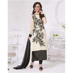 Buy Salesway White Georgette Dress Material by salesway, on Paytm, Price: Rs.1149?utm_medium=pintrest
