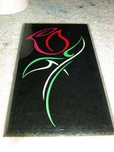 Tribal Glass Rose by on DeviantArt Easy Canvas Art, Small Canvas Art, Easy Canvas Painting, Mini Canvas Art, Disney Canvas Paintings, Canvas Painting Projects, Disney Canvas Art, Disney Silhouette Art, Beauty And The Beast Tattoo