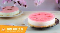 Học làm bánh Nhật - Cách làm bánh Sakura CheeseCake (Bánh phô mai hoa an...