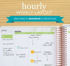 Check out the Hourly Weekly Layout of the NEW 2015/16 #EClifeplanner #erincondren