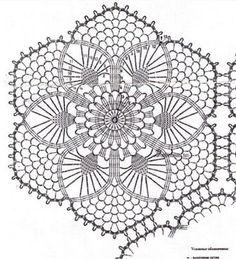 Magie all'uncinetto di SvitLana : Centrino a forma di fiore tridimensionale all'uncinetto