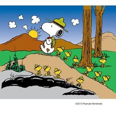 Snoopy & his camping crew