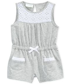 First Impressions Eyelet-Trim Cotton Romper, Baby Girls (0-24 Months), Only At Macy's - Baby Girl (0-24 months) - Kids & Baby - Macy's