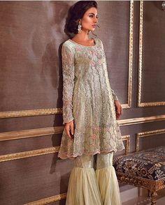 "Pakistani couture : ""Sana Abbas brings us a beautiful blend of east & west ✨ @sanaabbasofficial #sanaabbas…"""