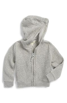 BURT'S+BEES+BABY+Organic+Cotton+Zip+Front+Hoodie+(Baby)+available+at+#Nordstrom