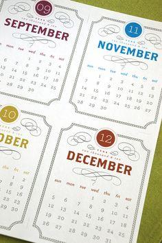 VINTAGE Printable Desk Calendar 2015 2016 Digital by govango