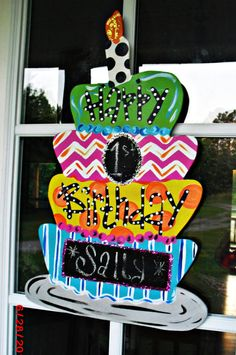 Chalkboard Birthday Custom for you  Wood Cut by TheWaywardWhimsy, $35.00