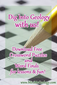 Parents, teacher and home school families can Dig into Geology with us for free. Puzzles are a great way to introduce geology concepts and test knowledge. http://www.minimegeology.com/home/mgeo/smartlist_18/free_geology_puzzles.html