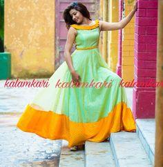 Bandhani Dress, Kalamkari Dresses, Ikkat Dresses, Designer Anarkali Dresses, Designer Dresses, Colour Combination For Dress, Long Frocks For Girls, Kids Party Wear Dresses, Blouse Designs Catalogue