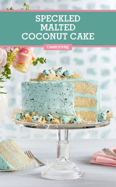 Speckled Malted Coconut Cake  This cake is almost too pretty to eat (but also too delicious not to).