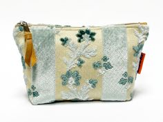 Handmade vintage fabric zippered pouch