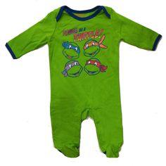 Ninja Turtles Newborn Baby's Tough As A Turtle Onesie
