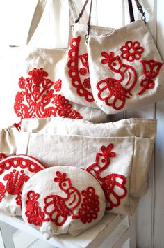 Embroidery Bags, Folk Embroidery, Scandinavian Embroidery, Japanese Bag, Hungarian Embroidery, Monogram Shirts, Craft Bags, Needlework, Burlap