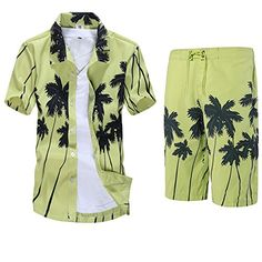 APTRO Men's Colorful Floral Printing Short Sleeved Summer Beach Shirt+Shorts ST22 Green M APTRO http://www.amazon.co.uk/dp/B010LDCNA0/ref=cm_sw_r_pi_dp_dUoywb1VR1EQA
