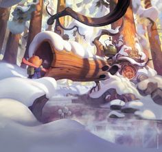 gorgeous colors in this fantasy illustration. Perfect for children's book illustrations!
