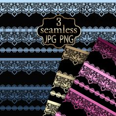 A set of lace designer by Futurel on @creativemarket