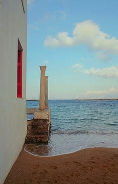 Window to the sea, Mykonos, Greece