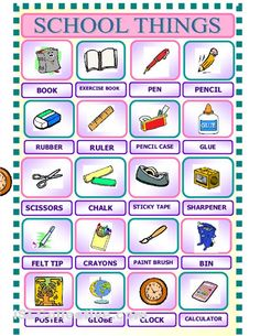 School objects - Stationery