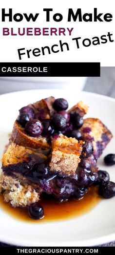 This healthy blueberry french toast casserole recipe is a perfect breakfast for a special occasion. It's light and scrumptious while still being filling. Clean Eating Breakfast, Breakfast Bites, Perfect Breakfast, Delicious Breakfast Recipes, Brunch Recipes, Yummy Recipes, Dairy Free Recipes, Real Food Recipes, Gluten Free