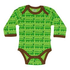 """Longsleeve body with """"Train"""" print from Sture&Lisa.  Composition: 100% Organic Cotton. GOTS and Fairtrade certified."""