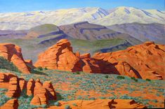 """Redrocks of Snow Canyon,"" Frank Ray Huff, Jr., oil (Utah)"