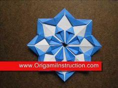 Paper Folding Origami Modular Diamond Star - YouTube