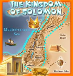 """The Kingdom of Solomon After David's Death.   Chronicles 1:1 """"And Solomon the son of David was strengthened in his kingdom, and the LORD his God was with him, and magnified him exceedingly."""""""
