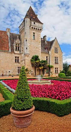 "Chateau des Milandes - France ~ Former home of Josephine Baker in ""Le Perigord"" region"